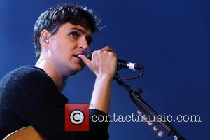 Ezra Koenig - Vampire Weekend performing live on stage at the iTunes Festival at the Roundhouse in Camden Town -...
