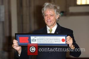 Bob Geldof Receives Freedom Of The City Of London