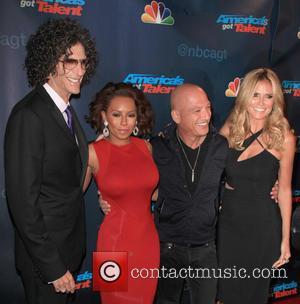Howard Stern, Mel Brown, Howie Mendel and Heidi Klum