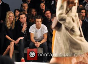 Poppy Delevingne, Nick Grimshaw and Harry Styles