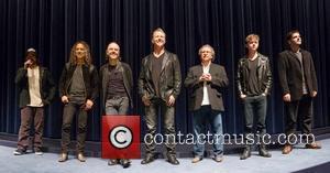 Robert Trujillo, James Hetfield, Lars Ulrich, Kirk Hammett, Dane Dehaan and Nimrod Antal