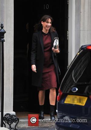 Samantha Cameron - Samantha Cameron outside number 10 Downing Street - London, United Kingdom - Wednesday 18th September 2013