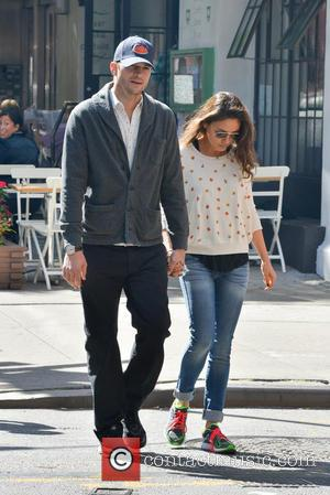 Ashton Kutcher and Mila Kunis - Ashton Kutcher and Mila Kunis in Soho - Manhattan, New York, United States -...