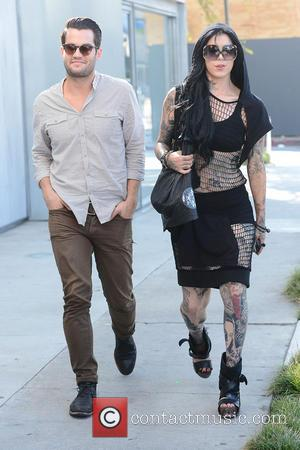 Kat Von D - Kat Von D heads to Urth Cafe with a friend - Los Angeles, CA, United States...
