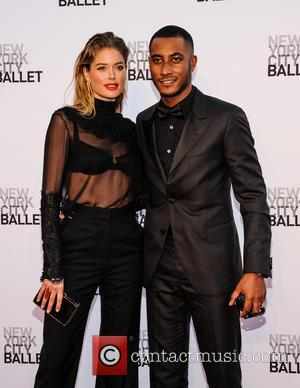 Doutzen Kroes and Sunnery James - New York City Ballet 2013 Fall Gala at the David H Koch Theater -...