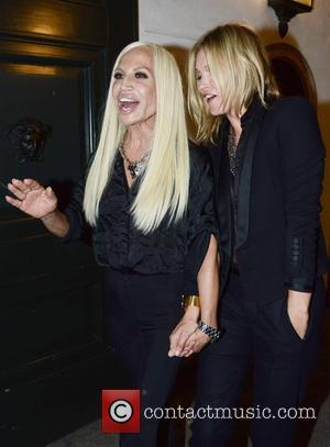 Kate Moss and Donatella Versace
