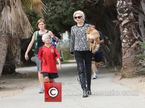 Gwen Stefani and Kingston Rossdale - at a park in Sherman Oaks to watch their son Kingston's soccer game -...