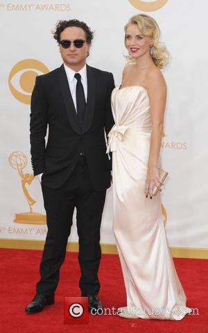 Kelli Garner and Johnny Galicki - 65th Annual Primetime Emmy Awards held at Nokia Theatre L.A. Live - Arrivals -...