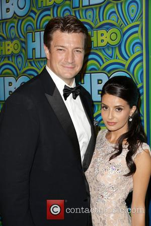 Nathan Fillion and Mikaela Hoover - HBO's Annual Primetime Emmy Awards Post Award Reception at The Plaza at the Pacific...