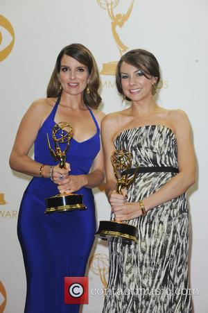 Tina Fey and Tracey Wigfield - 65th Annual Primetime Emmy Awards - Press Room - Los Angeles, CA, United States...