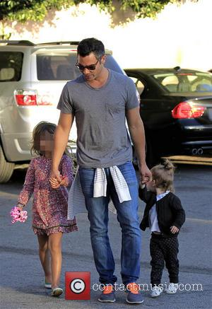Cash Warren, Haven Warren and Honor Warren - Jessica Alba and family at a friend's birthday party in West Hollywood...