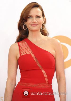 Carla Gugino - 65th Annual Primetime Emmy Awards held at Nokia Theatre L.A. Live - Arrivals - Los Angeles, California,...