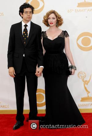 Geoffrey Arend and Christina Hendricks - 65th Annual Primetime Emmy Awards held at Nokia Theatre L.A. Live - Arrivals -...