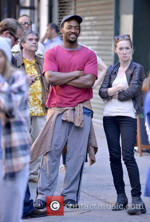 Anthony Mackie - Scenes from the Shelter film set - Manhattan, New York, United States - Tuesday 24th September 2013