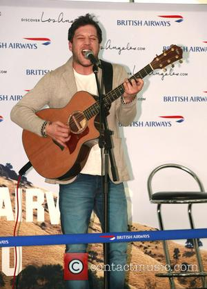Matt Cardle - Mel C and Matt Cardle perform on stage at Heathrow Terminal 5 to celebrate the A380's first...