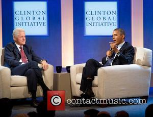 Bill Clinton and President Barack Obama - Clinton Global Initiative 2013 -Day 1 - New York, NY, United States -...