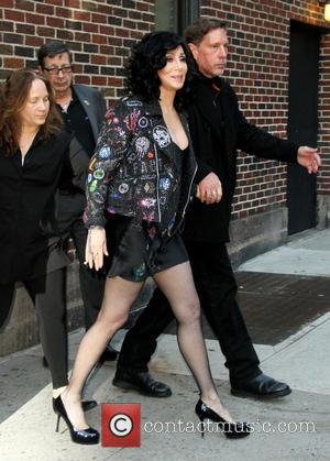 Cher - Celebrities outside the Ed Sullivan Theater for a taping for CBS 'Late Show with David Letterman' - New...