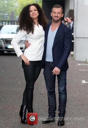 Natalie Gumede and Artem Chigvintsev - Natalie Gumede and Artem Chigvintsev outside ITV studios - London, United Kingdom - Wednesday...