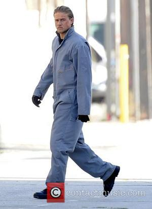 Charlie Hunnam - Charlie Hunnam sports a jumpsuit for a scene in the tv show