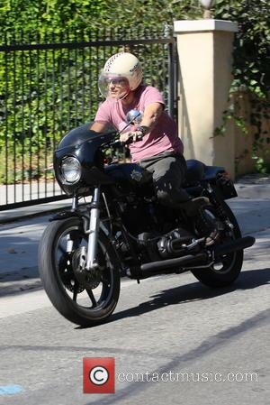Olivier Martinez - Olivier Martinez riding his motorbike in West Hollywood - Los Angles, CA, United States - Thursday 26th...
