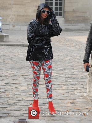 M.I.A. - Paris Fashion Week Womenswear Spring/Summer 2014 - Balenciaga - Outside Arrivals - Paris, France - Thursday 26th September...