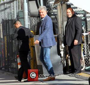 Anthony Bourdain - Anthony Bourdain arrives at the Jimmy Kimmel studio's for an appearance on Jimmy Kimmel Live! - Los...