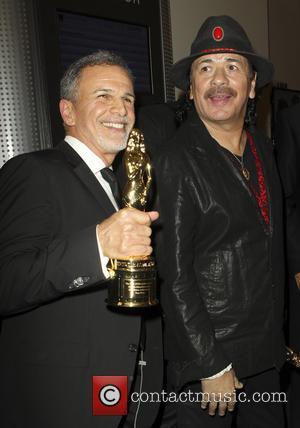 Tony Plana and Carlos Santana