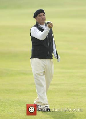 Andy Garcia - American actor Andy Garcia plays golf in the Alfred Dunhill Links Championship in St Andrews - St...
