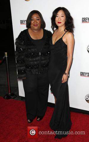 Shonda Rhimes and Sandra Oh