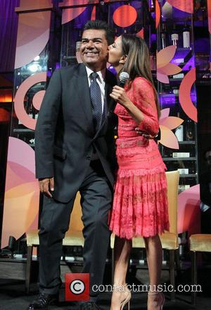 George Lopez and Eva Longoria - Eva Longoria Foundation Dinner at her restaurant Beso in Hollywood sponsored by Target -...