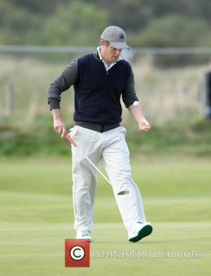 Hugh Grant - Actor Hugh Grant plays the Old Course at the Alfred Dunhill Links Championship final day in St...