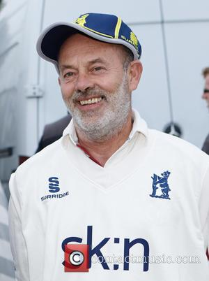 Keith Allen - Bunbury Charity Cricket match in aid of ESCA and Warwickshire cricket captain Jim Troughton on his benefit...