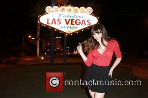 Claire Sinclair - Star of 'Pin Up' at the Stratosphere and Playmate of the year 2011, Claire Sinclair poses at...