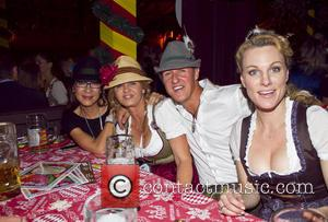 Michellle Yeoh, Michael Schumacher and Corinna Schumacher