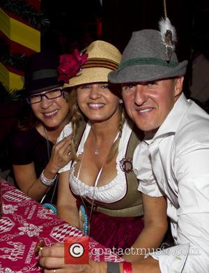 Michellle Yeoh, Michael Schumacher and Corinna Schumacher - Munich Oktoberfest at the Hippodrom beer hall - Munich, BAVARIA, Germany -...