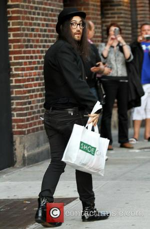 Sean Lennon - Celebrities outside the Ed Sullivan Theater for the Late Show with David Letterman. - New York, NY,...