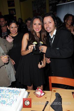 Burgandi Phoenix and Carlos Ramzey Ramirez - Carlos Ramzey Ramirez karaoke birthday party - Red Carpet Arrivals - Hollywood, CA,...