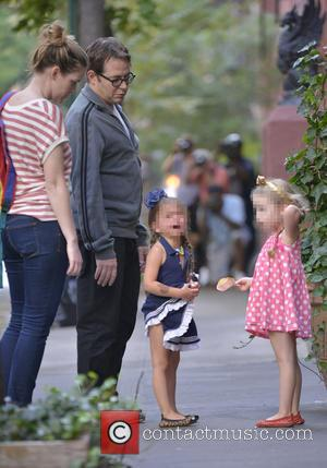 Matthew Broderick, Marion Broderick and Tabitha Broderick - Matthew Broderick seen with son James and twins Marion and Tabitha out...
