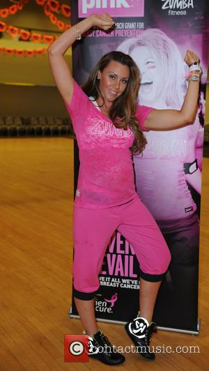 Michelle Heaton - Zumba Party In Pink Ambassador, Michelle Heaton, participates in Manchester Zumbathon Event, alongside  Zumba Instructor, Natalie...