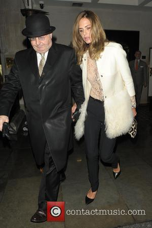 Trinny Woodall - Charles Saatchi and Trinny Woodall leave Scott's restaurant - London, United Kingdom - Thursday 3rd October 2013