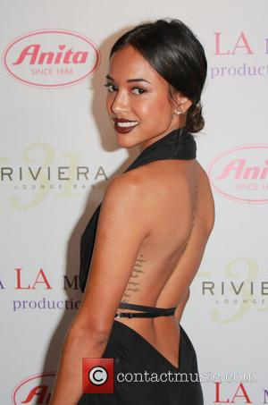 Karrueche Tran - Los Angeles Fashion Week Spring 2014 - 'Designers Night Out' at the Sofitel Hotel - Los Angeles,...