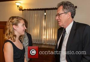 Sophie Nelisse and Geoffrey Rush