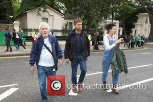 Damon Albarn - Jude Law and Damon Albarn attend the 'Free The Arctic 30' Greenpeace demo outside the Russian embassy...