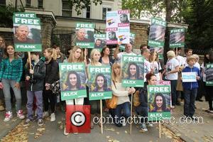 Jude Law and Damon Albarn attend the 'Free The Arctic 30' Greenpeace demo outside the Russian embassy in London. The...