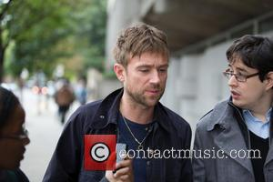 Damon Albarn - Greenpeace protests outside the Russian Embassy angry at the arrests of  30 activists including journalists that...