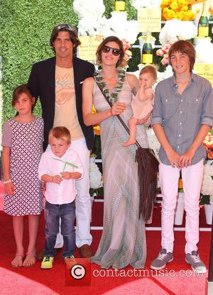 Nacho Figueras, Delfina Blaquier and Kids - The Fourth-Annual Veuve Clicquot Polo Classic Held at Will Roger's Polo Grounds -...