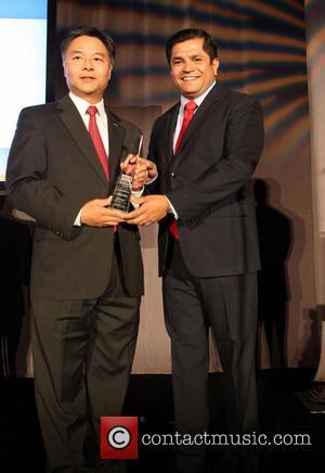 Gomez and Senator Ted Lieu