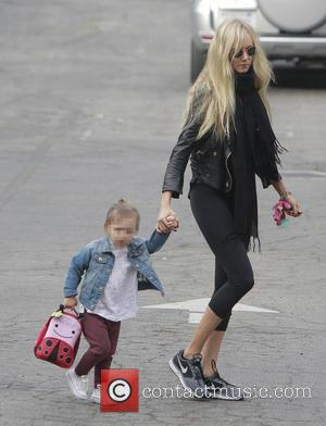 Delilah Del Toro and Kimberly Stewart - Kimberly Stewart takes daughter Delilah to school - Los Angeles, CA, United States...