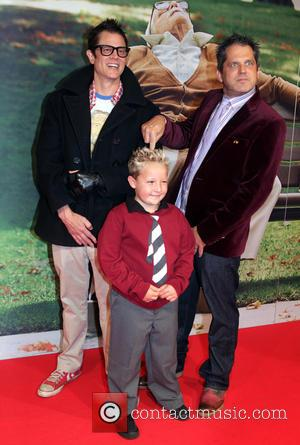 Johnny Knoxville, Jackson Nicoll and Jeff Tremaine - Premiere of 'Jackass Presents: Bad Grandpa' at Pathe Tushinski Movie Theatre -...