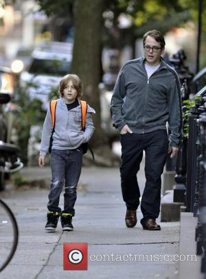 Matthew Broderick and James Broderick - Mathhew Broderick takes his son and twin daughters to school - New York City,...